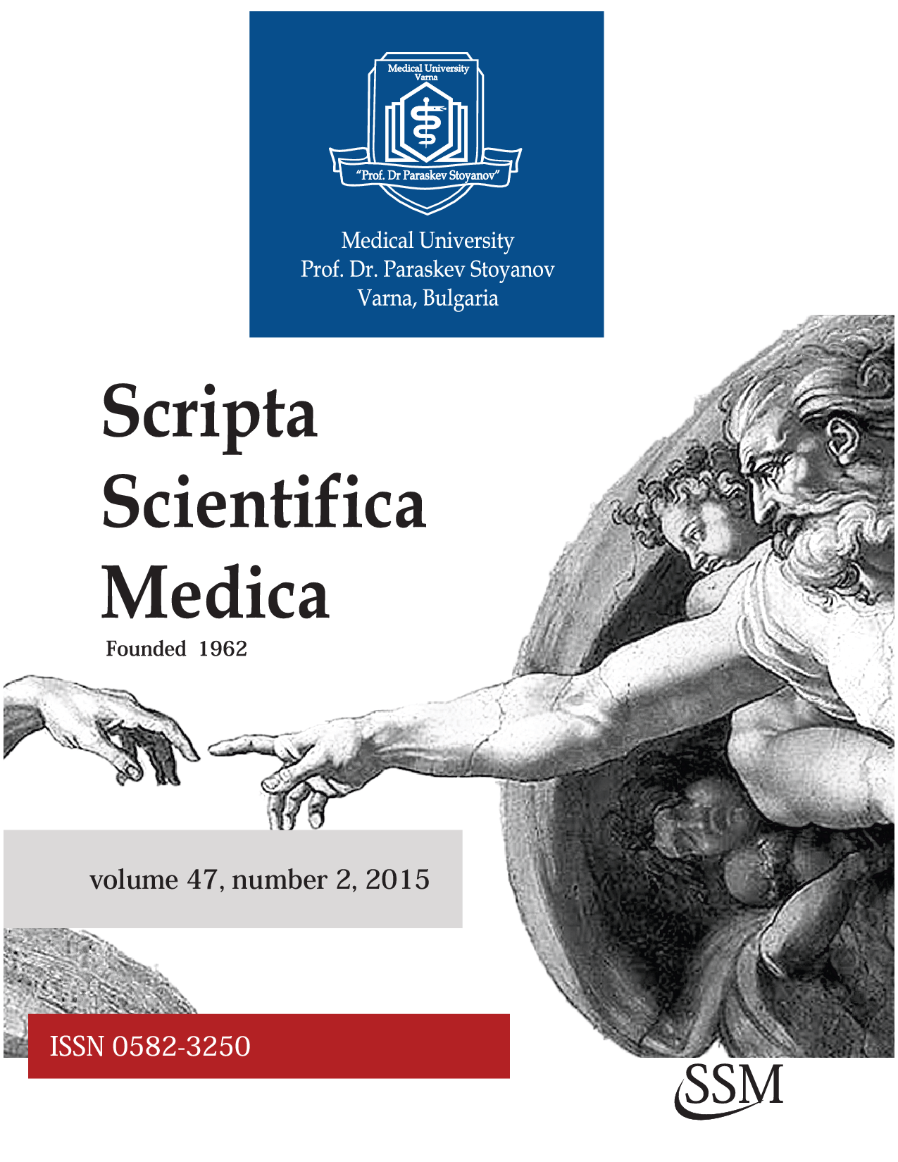 "Issue No. 2 for 2015 of the University Scientific Journal ""Scripta Scientifca Medica"" Has Been Published. Available Online"