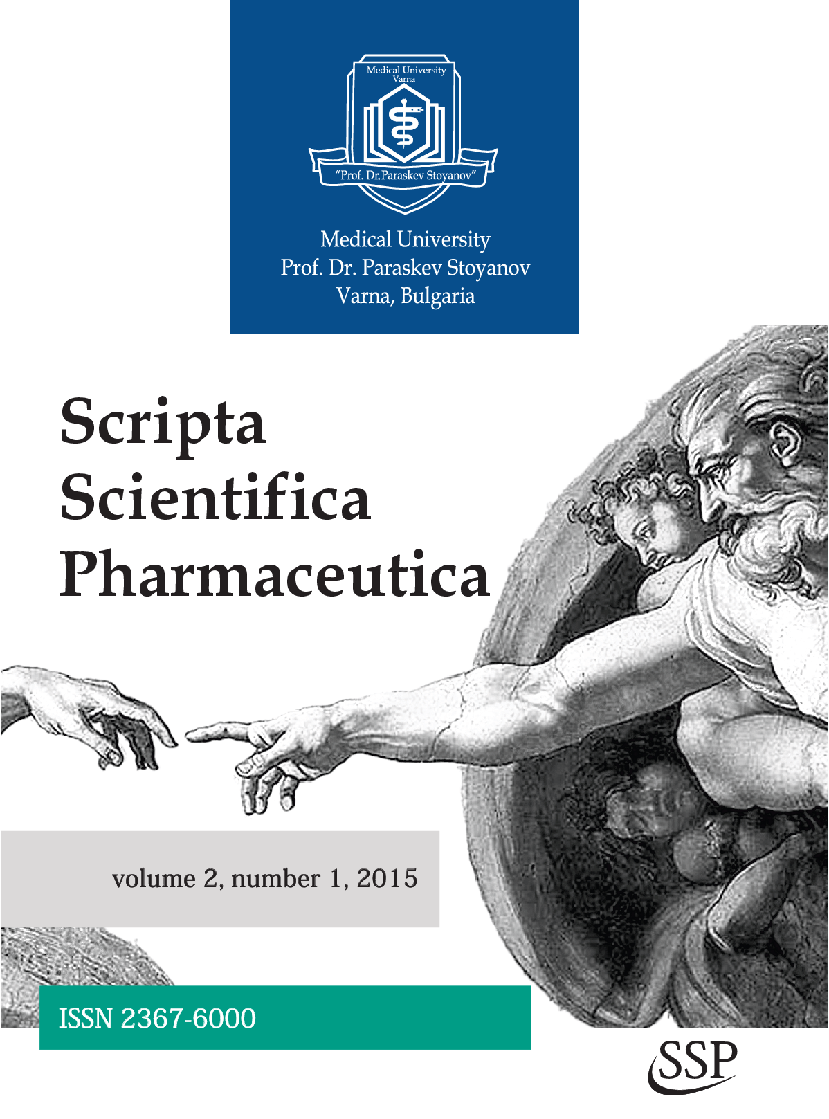 "Number 1, Volume 2, 2015 of ""Scripta Scientifica Pharmaceutica"" Has Been Published"