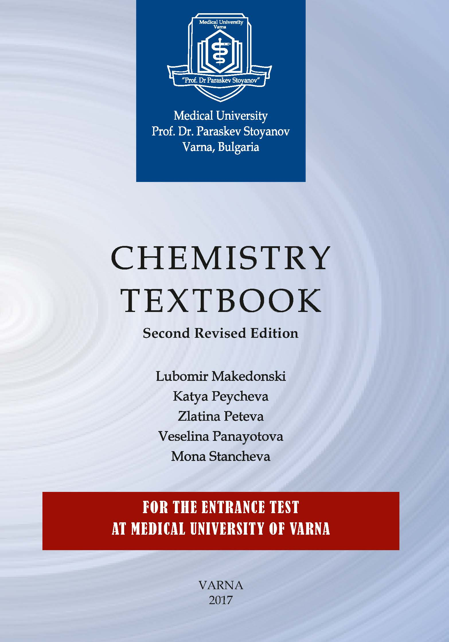 Chemistry Textbook For The Entrance Test at Varna Medical University Is Available as of Today